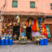Marrakesh – traditional souks and medina in ocher color