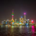 Shanghai at night – laser show and beautiful colorful lights