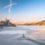 Zamek w Niedzicy i Jezioro Czorsztyńskie w okowach zimy -15°C